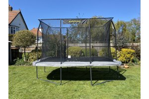 Jumpking 8ft x 12ft Rectangular Combo Pro Trampoline