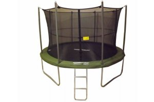 12ft SUPERTRAMP Springtime Trampoline with Enclosure and Ladder