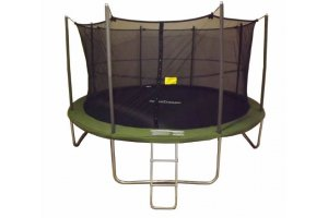 14ft SUPERTRAMP Springtime Trampoline with Enclosure and Ladder