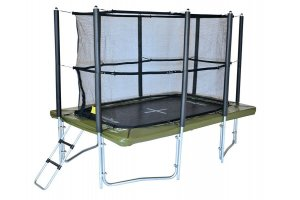 Supertramp XR300 Rectangular Trampoline with Safety Enclosure and Ladder