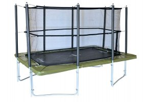 Supertramp XR360 Rectangular Trampoline with Safety Enclosure and Ladder
