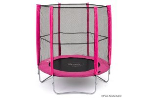 Plum 6ft Junior Trampoline and Enclosure - PINK - 30109