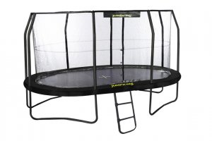 Jumpking Mini OvalPOD Trampoline, 11.5ft x 8ft with FREE Ladder