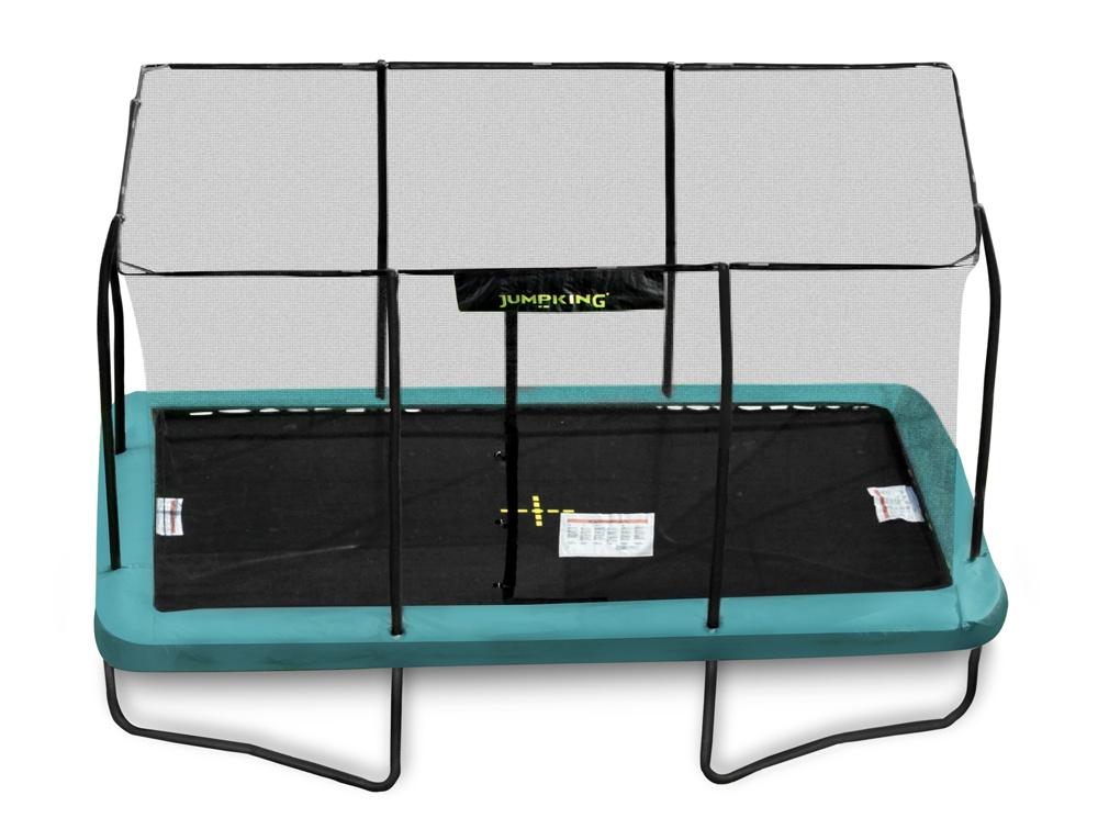 14ft X 10ft Jumpking Rectangular Trampoline With Enclosure