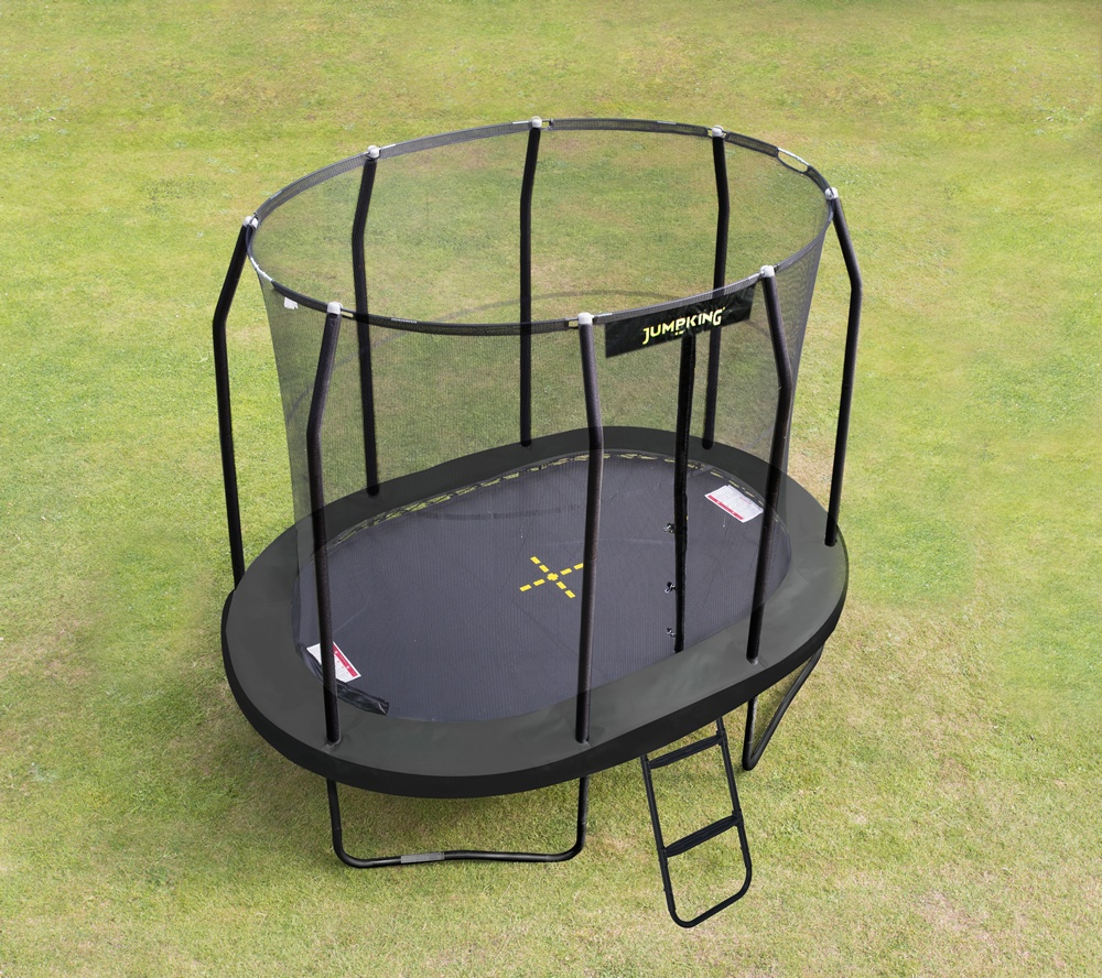 Jumpking Mini OvalPOD Trampoline, 11.5ft X 8ft With FREE