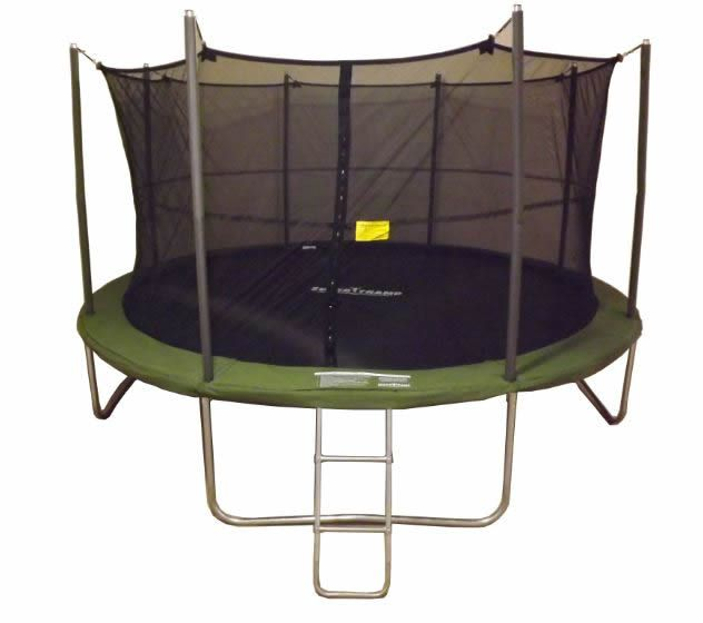 14ft SUPERTRAMP Springtime Trampoline With Enclosure And